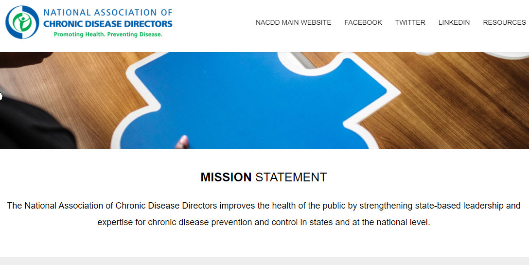 the NACDD resources website homepage